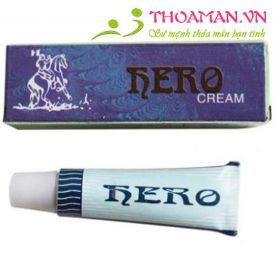 2 tuýp gel HERO CREAM chống xuất tinh sớm cho phái mạnh